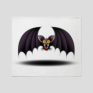 Bat Cartoon Throw Blanket