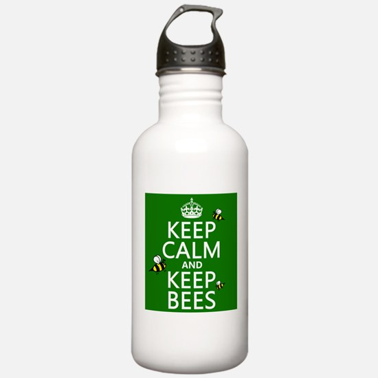 Keep Calm and Keep Bees Sports Water Bottle