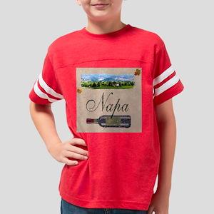 napa valley wine bottle coast Youth Football Shirt