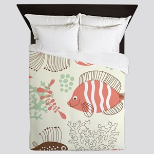 Sea Life Queen Duvet
