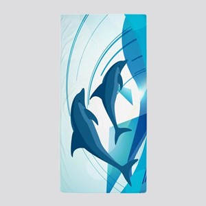 Abstract Dolphins Beach Towel