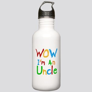 WOW I'm an Uncle Stainless Water Bottle 1.0L