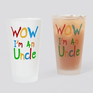 WOW I'm an Uncle Drinking Glass