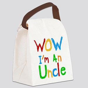 WOW I'm an Uncle Canvas Lunch Bag