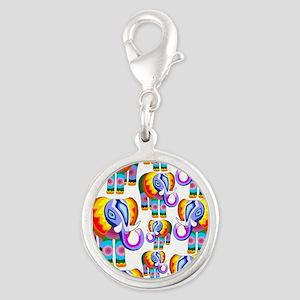 Elephant Rainbow Colors Patchwork Charms