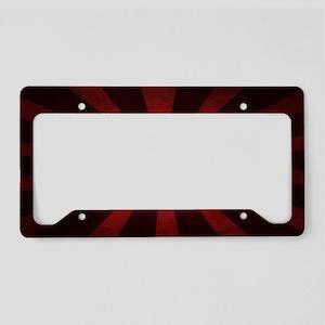 Red Starburst Warrior License Plate Holder