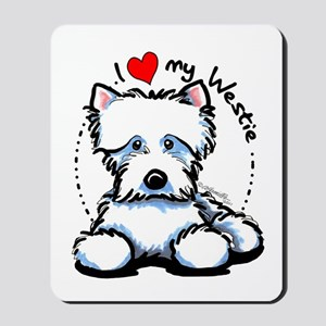 I Love Westies Mousepad