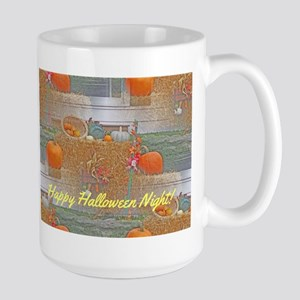 Seamless Pumpkins on Haystack Mug