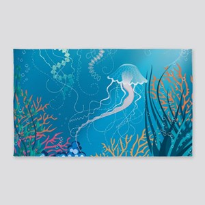 Jellyfish 3'x5' Area Rug