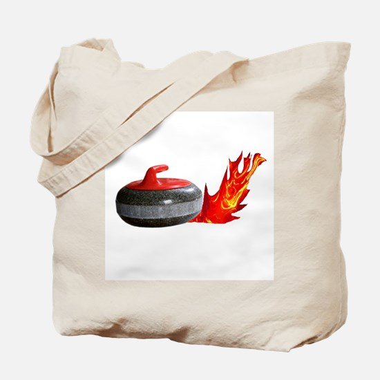 Flaming Rock Tote Bag