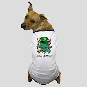 Mardi Gras Party Alien 8 Dog T-Shirt