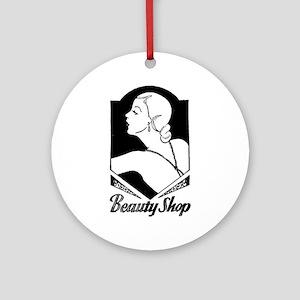 Retro Beauty Shop Ornament (Round)