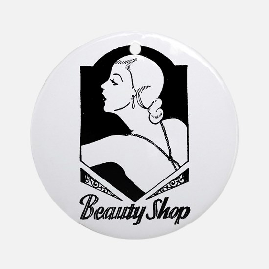 Retro Beauty Shop Ornament (Round)