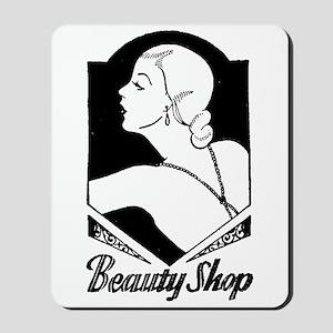 Retro Beauty Shop Mousepad