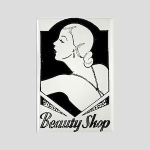 Retro Beauty Shop Rectangle Magnet