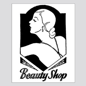 Retro Beauty Shop Small Poster