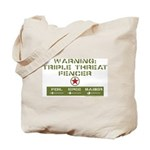 Triple Threat Fencer Tote Bag