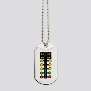Drag Racing Christmas Tree Dog Tags