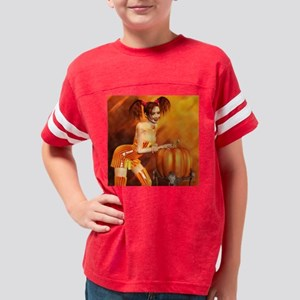 haloween_candy_vwc_pinups_230 Youth Football Shirt