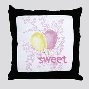 Cotton Candy Sweet Throw Pillow
