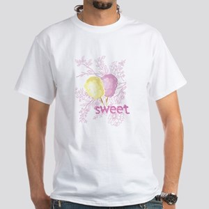 Cotton Candy Sweet White T-Shirt