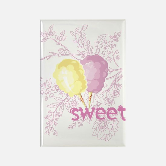 Cotton Candy Sweet Rectangle Magnet