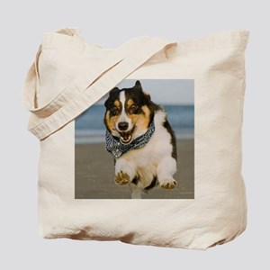 Cute Cori Running & Jumping on Beach Tote Bag