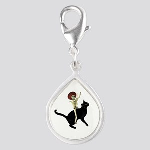 Skeleton on Cat Charms