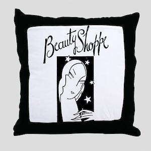 Retro Beauty Shop Throw Pillow
