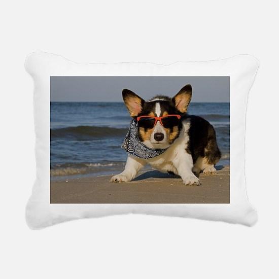 Beach Patrol Officer Rectangular Canvas Pillow