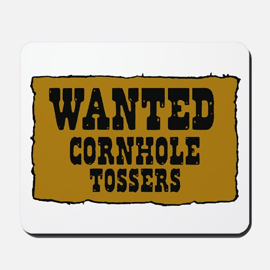 Cornhole wanted poster Mousepad