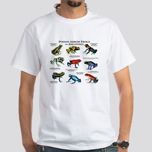 Poison Dart Frogs of Amazonia White T-Shirt