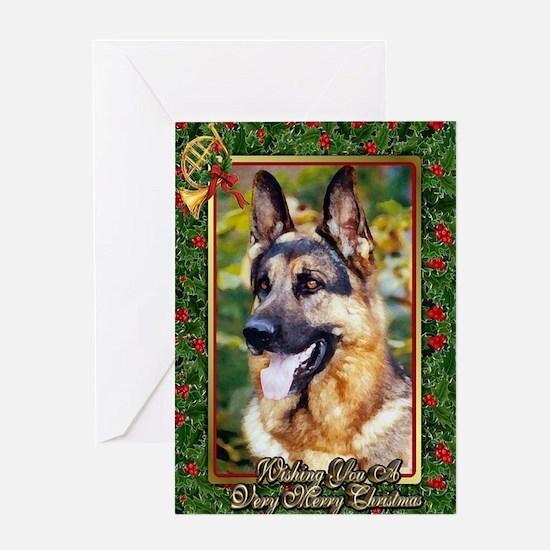 German Shepherd Dog Christmas Greeting Card