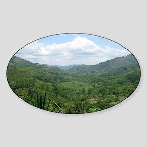Nicoya Jungle Costa Rica Sticker (Oval)