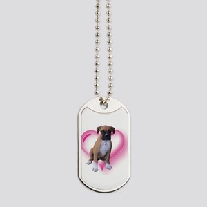 Heart Boxer Puppy Dog Tags