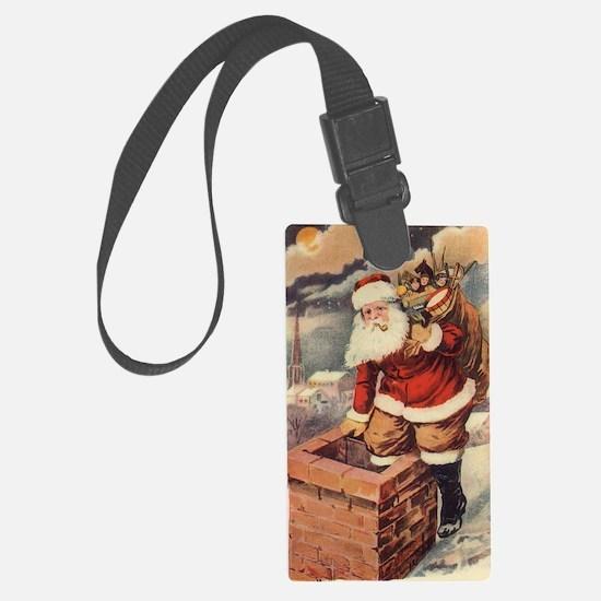 Vintage Christmas Santa Claus Luggage Tag