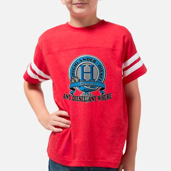 nthighlanderblack Youth Football Shirt