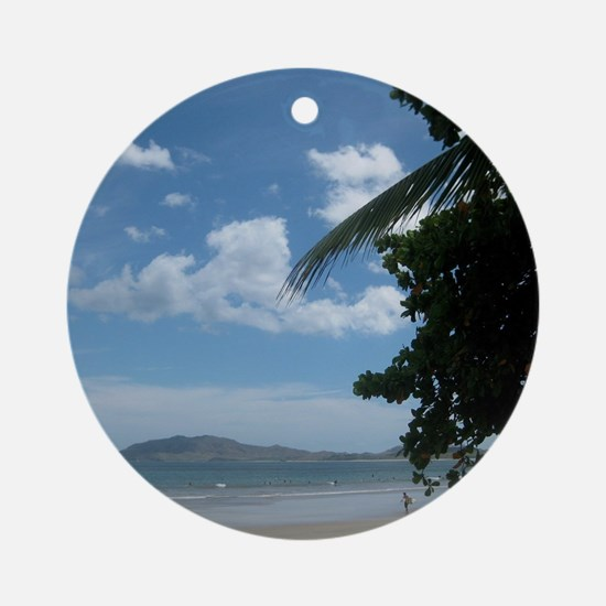 Tamarindo Beach Costa Rica Round Ornament