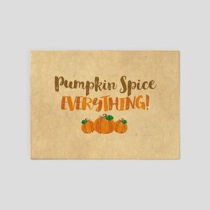 Pumpkin Spice EVERYTHING 5'x7'Area Rug