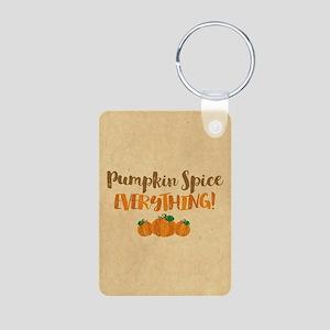 Pumpkin Spice EVERYTHING Aluminum Photo Keychain
