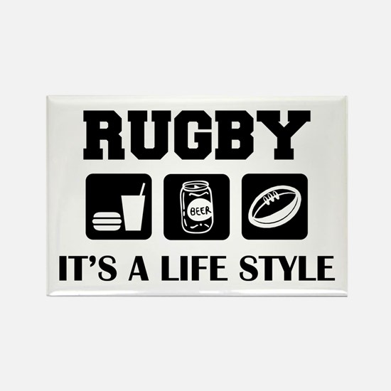 Food Beer Rugby Rectangle Magnet
