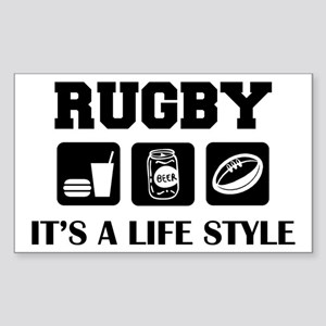 Food Beer Rugby Rectangle Sticker