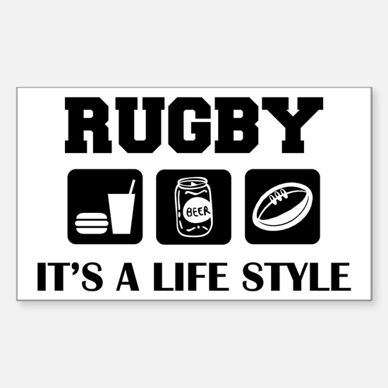 Food Beer Rugby Rectangle Decal