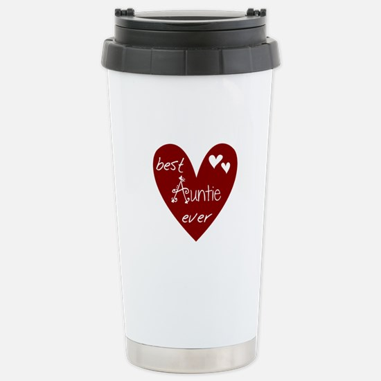 Red Heart Best Auntie Ever Stainless Steel Travel