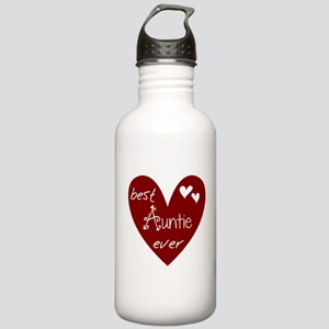 Red Heart Best Auntie Ever Stainless Water Bottle