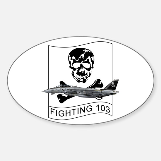 Vf-103 Jolly Rogers Oval Decal