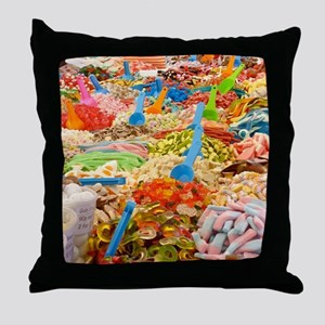 Candy!Candy!Candy! Throw Pillow