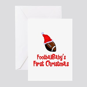 FootballBaby's First Christmas Greeting Cards (Pac
