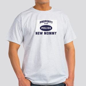 Police Property: NEW MOMMY Ash Grey T-Shirt