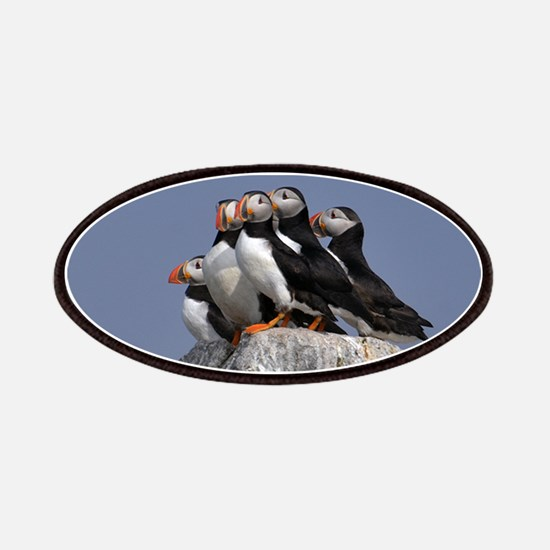 5 puffins Patches